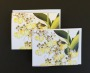 Orchid flat and folded note cards