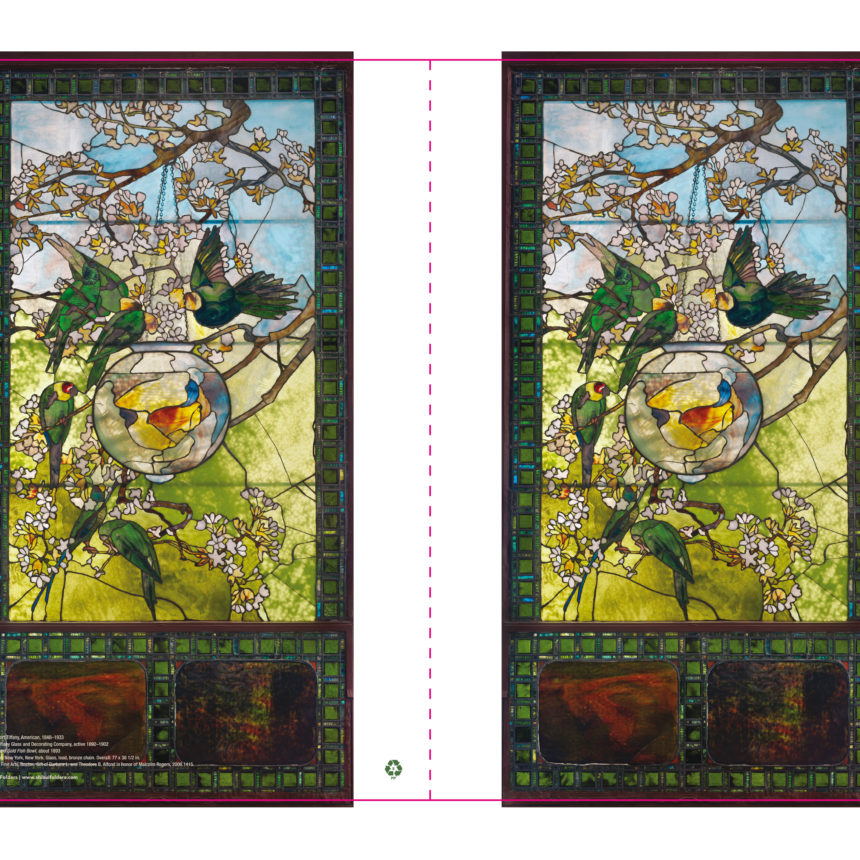 letter-sized folder using Tiffany glass image in the collection of the Museum of Fine Arts in Boston